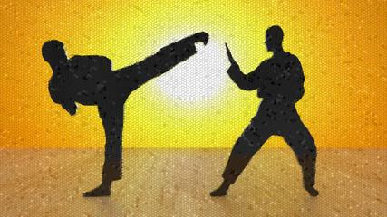 Karate Mosaik