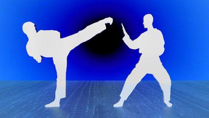 Karate blue & white