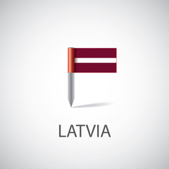 Latvia flag pin.