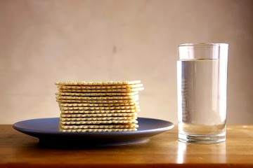 Soda Crackers and Glass of water