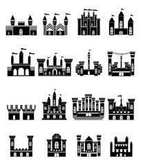 Castle icons set