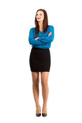 Business woman with crossed hands