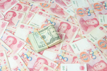 Dollar USA and RMB Chinese