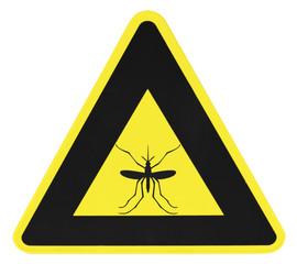 panneau triangulaire, danger moustique