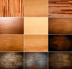 collection of real beautiful wooden textures