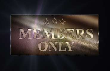 Members only - Metallschild S