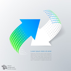 Infographics Vector Background #Rotating Arrows