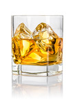 Tumbler mit Whisky on the rocks