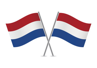 Netherlands flags. Vector illustration.