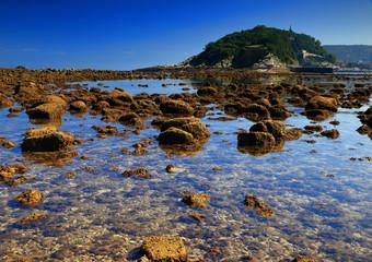 Donostia in low tide