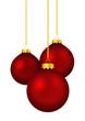 Weihnachtskugel, Weihnachten, Kugel, rot, Deko, hängend, xmas