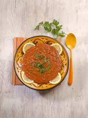 vegetarian chili beans soup