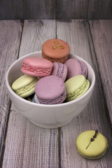 colored macaroon