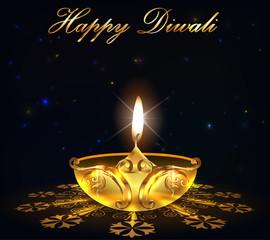 deepavali festival graphic design, happy diwali card