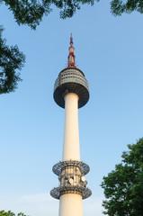 N seoul tower at namsan park south korea