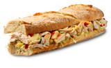 Submarine sandwich chicken salad