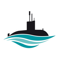 Vector logo submarine
