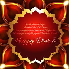 Beautiful background of diwali diya