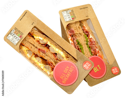 Papiers peints Snack Packs Of Sandwiches