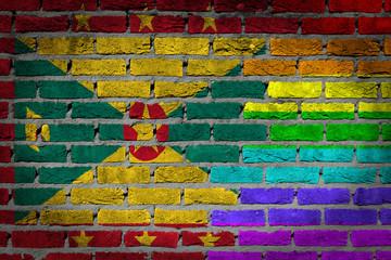 Dark brick wall - LGBT rights - Grenada