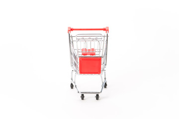 Caddy for shopping in supermarket