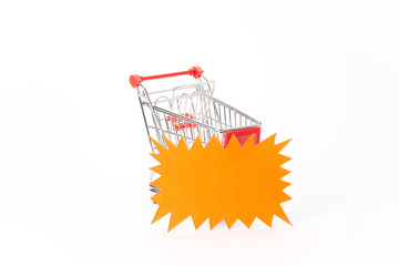 Caddy for shopping with discount coupon