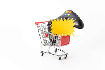 Caddy for shopping with game pad