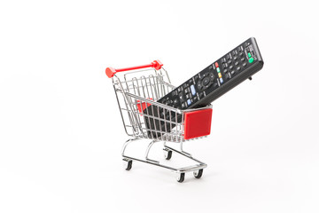 Caddy for shopping with remote control