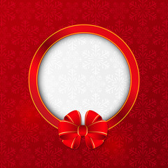 Christmas card with round frame