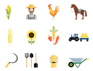Farmer tools icons