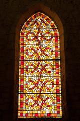 Le vitrail aux motifs géométriques