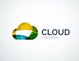Cloud storage logotype set, flat design