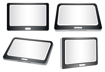 Tablets in Different Views Vector Illustration