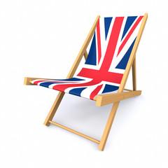 3D UK beach lounger