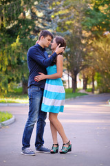 Portrait of young happy smiling cheerful attractive couple toget