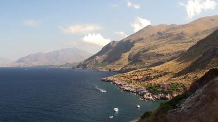 Sicilian Coast at Zingaro Nature reserve. Italy.