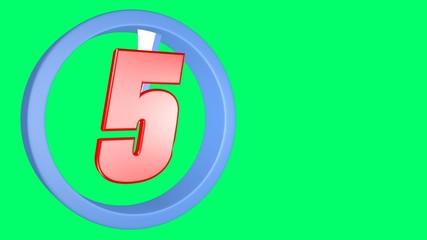 3D render countdown