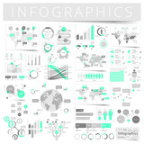Set of infographics design elements poster
