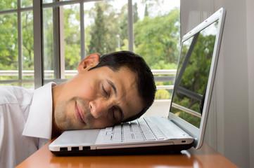 working and sleeping