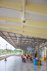 CCTV or surveillance operating in train station