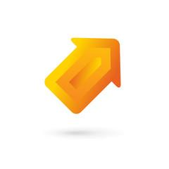 Business arrow logo icon design template