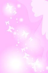 蝶背景 pink