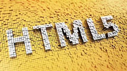 Pixelated HTML5