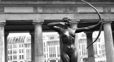 Architectural detail of Diana hunting (Berlin, Germany)