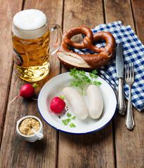bavarian white sausage