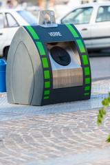 Poubelle  de recyclage verre