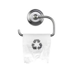 WC Papier auf Wandhalter - Recycling