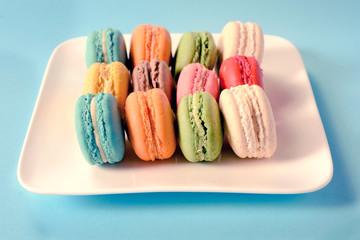 Macaroon cookies in plate