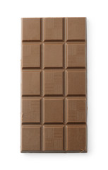 Brown chocolate tablet