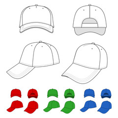 Cap outlined template